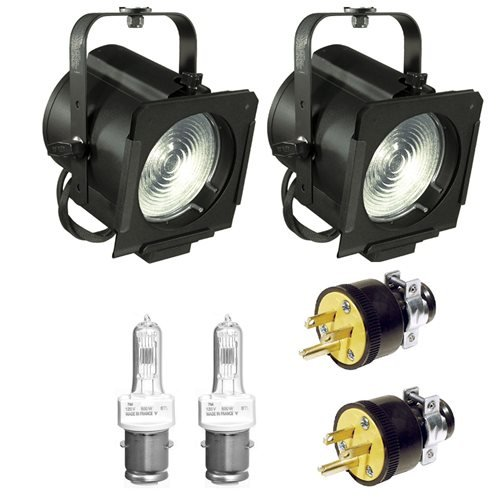 Altman Stage Lighting 65Q Fresnel Light 2-Pack with Lamps & AC Plugs Altman Light