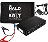 Halo Portable Charger & Car Jump Starter w/ LED Floodlight Black Graphite