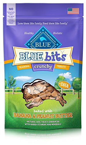 BLUE Crunchy Bits Banana & Peanut Butter Dog Treats 3-oz