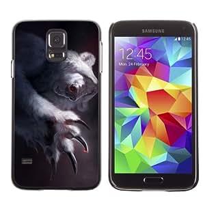 Licase Hard Protective Case Skin Cover for Samsung Galaxy S5 - Funny Polar Bear Illustration