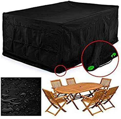 防水カバーガー 屋外の庭カバーガーデンテーブル家具カバー屋外のテーブルと椅子の防水防塵カバー雨キャノピー210D 190T シバオ (Size : L)
