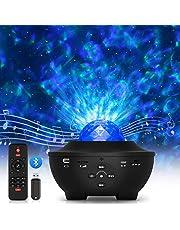 LED-sterrenhemel projector, oceaangolven projector met afstandsbediening/Bluetooth 5.0/muziekspeler/timer, led oceaangolvenprojector sterrenprojectorlamp voor feest, Kerstmis, Pasen, zwart
