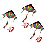 RuiyiF Kites for Boys Girls Kids Child Children Colorful (Pack of 3)