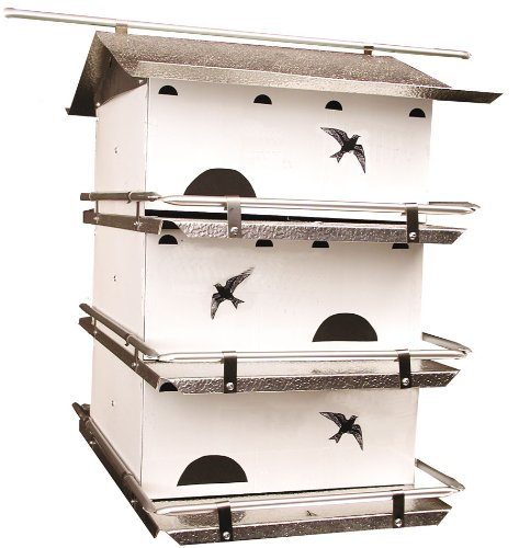 - Birds Choice Waters Edge 3-Floor-6 Suites Purple Martin House with Starling Resistent Holes