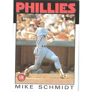 1986 Topps # 200 Mike Schmidt Philadelphia Phillies Baseball Card