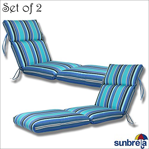 - Comfort Classics Inc. SET OF 2-22x74x5 Sunbrella Indoor/Outdoor Fabrics in Dolce Oasis CHANNELED CHAISE CUSHION by