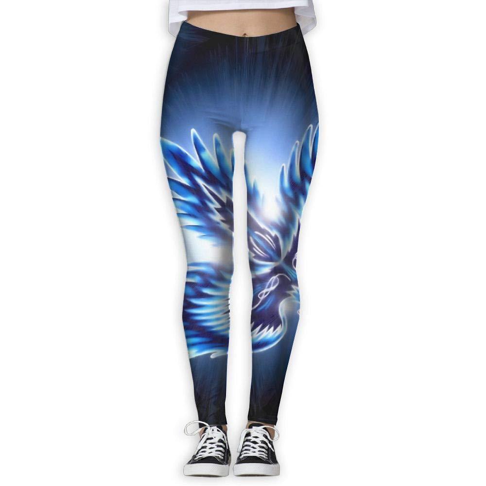 CCTGJPT Ice Phoenix Women Yoga Pants Workout Running Leggings