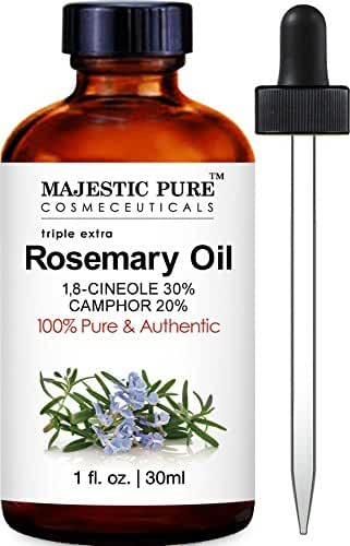 Majestic Pure Rosemary Essential Oil, Highest Quality Therapeutic Grade, 1 fl oz