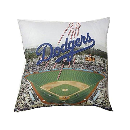 y MLB Los Angeles Dodgers Decorative Photo Pillow (18 x 18) ()