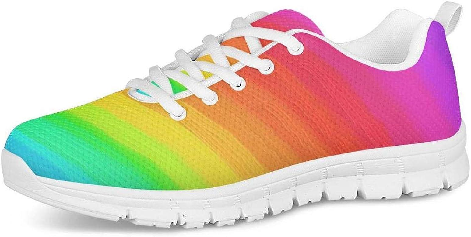 POLERO Zapatillas de Deporte con Cordones de Moda para Mujer Zapatos Deportivos para Correr Zapatillas de Malla Coloridas Zapatos para Caminar Casuales 36 EU: Amazon.es: Zapatos y complementos