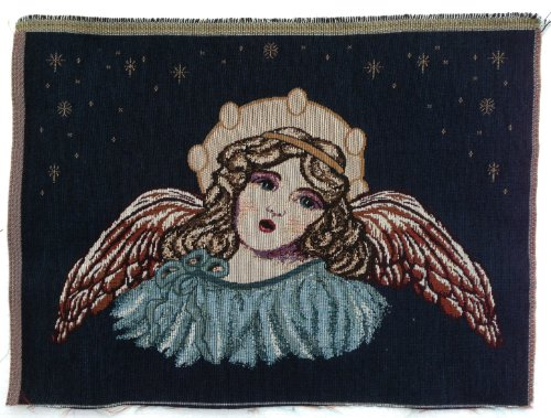 Christmas Angel Jacquard Woven Tapestry Fabric Panel (Great for Sewing, Craft Projects, Wall Hanging, Throw Pillow, & More) 14