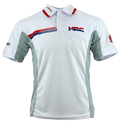 Amazoncom Honda Team Hrc 2018 Mens Polo Shirt White Teamwear