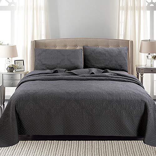 Quilt Set King, 3 Piece Quilt Bedding Set Ultra Soft Cotton Quilted Coverlet Luxury Lightweight Bedspread Quilt 106