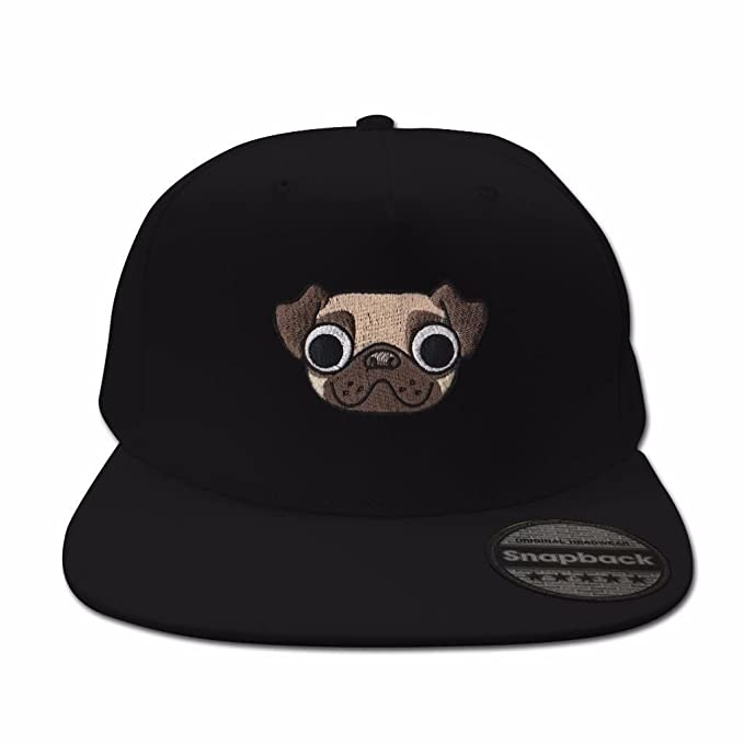 1c9642ac Amazon.com: Bang Tidy Clothing Pug Black Snapback: Clothing