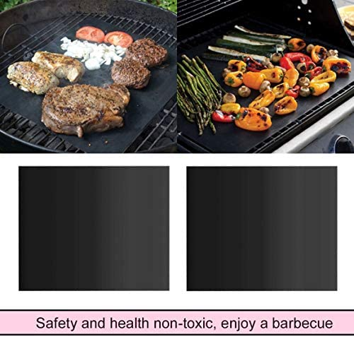 Monrodbitt Réutilisable Antiadhésif Barbecue Rôti Tapis Facile À Nettoyer en Plein Air Pique-Nique Cuisson Barbecue Grill Tapis Tapis De Cuisson Outil Plaque De Cuisson