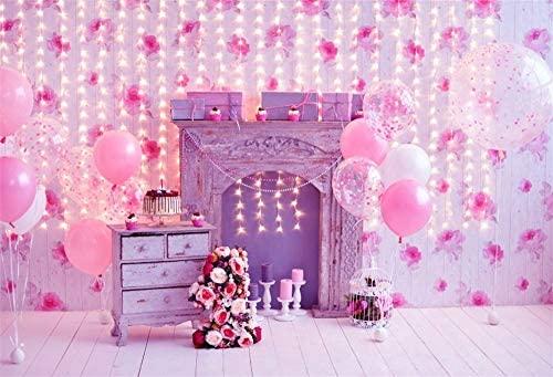 BuEnn 5x3ft Baby Girl Primer cumpleaños Fiesta Telón de ...