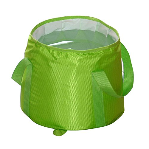 TSJ 19 Liter/5 Gallon Collapsible Water Bucket Camping Sink Portable Durable Sink Basin Bucket for Fishing Hiking Travelling