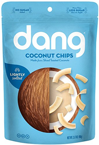 Lightly Salted Chips - Dang Toasted Coconut Chips, Lightly Salted 3.17oz. (Pack of 2)