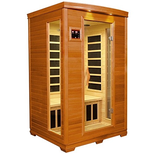 DYNAMIC SAUNAS AMZ-DYN-6232-04 Milan 2-Person Far Infrared Sauna