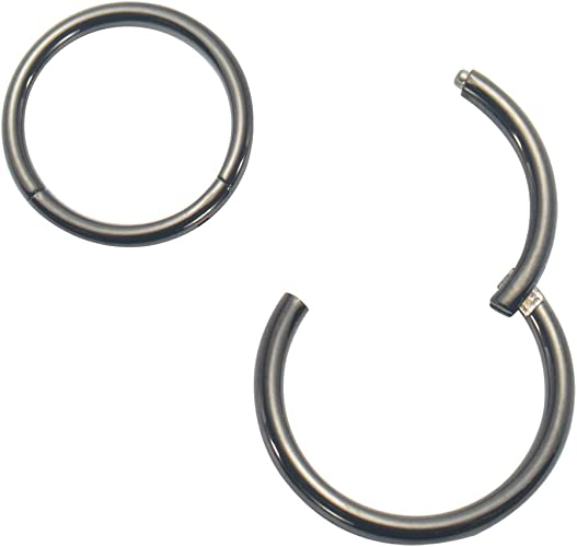 316L Surgical Steel Septum Clicker Segment Helix Nose Ring Ear Cartilage 14G Choose Your Color