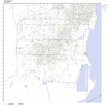 Map Homestead Florida.Amazon Com Homestead Fl Zip Code Map Laminated Home Kitchen