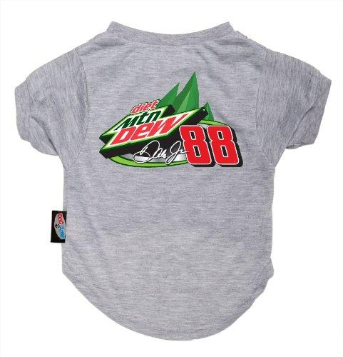Dog Zone NASCAR Pet T-Shirt, Medium, Gray, Dale Earnhardt Jr., My Pet Supplies