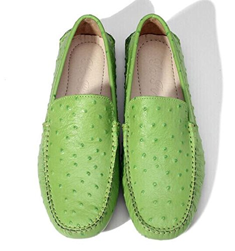 Happyshop (tm) Mens Falso Mocassino Ventilato In Mocassino Slip-on Penny Mocassini Sneakers Moda Appartamenti Verde