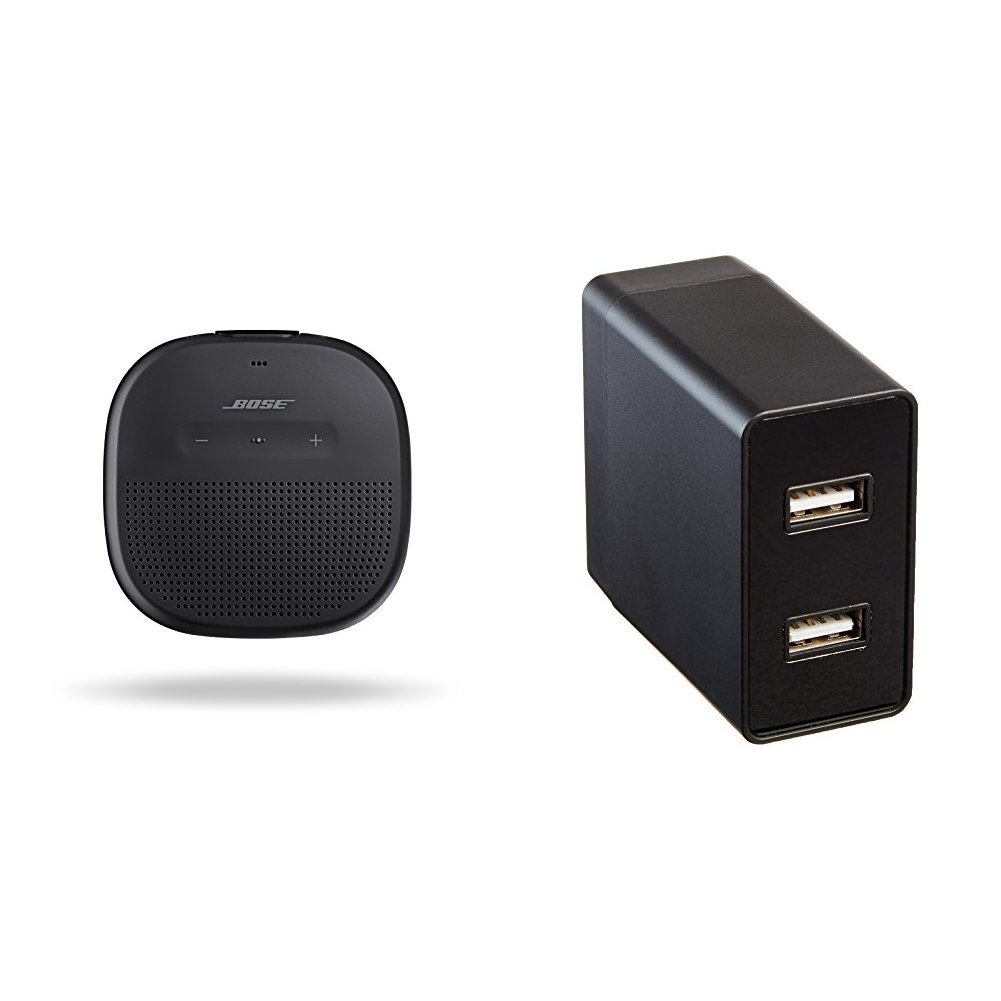 Bose SoundLink Micro Bluetooth speaker - Black with AmazonBasics USB Wall Charger