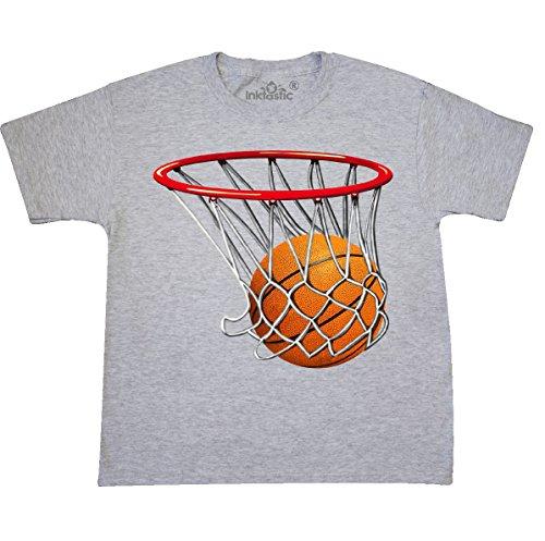 T-shirt Youth Shot (inktastic - Basketball Swish Youth T-Shirt Youth Medium (10-12) Ash Grey 32e6)