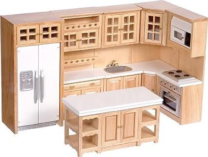 Amazon Com Dollhouse Miniature 1 12 Scale Complete 8 Piece Kitchen