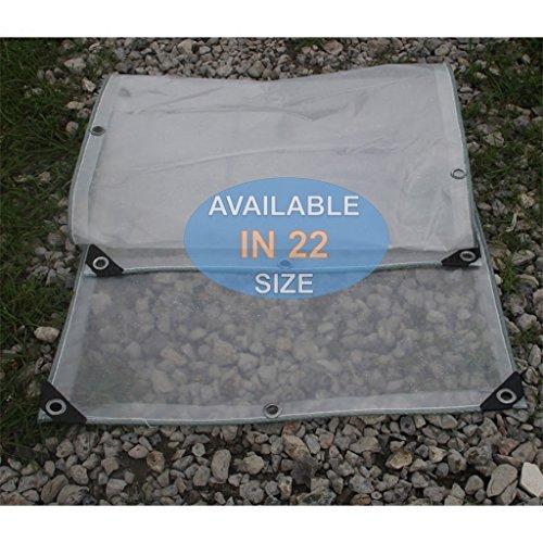 GUO tarp Klare Poly Tarp Wasserdicht Doppelschicht, Schwere Klare Plane mit Ösen, Multi Purpose Outdoor Plane Cover für Stiefel, Camping, Zelt, Regenschutz