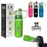 Portable Water Bottle for Walking | Leak Proof Food Grade Silicone Convenient Dog Travel Water Bottle Keeps Pup Hydrated | Portable Dog Water Bowl & Travel Water Bottle for Human & Dogs (Black)