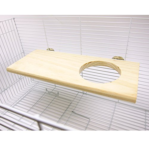 Image of Alfie Pet by Petoga Couture - Garath Wood Platform for Mouse, Chinchilla, Rat, Gerbil and Dwarf Hamster