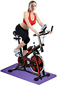 OneTwoFit Exercise Bike Cycling Bike Indoor Studio Cycles Training Bike Fitness Cycling with Adjustable Handle
