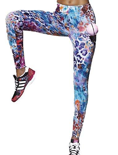 Bas Bleu Caty 90 Leggings Largos (Disponible Top Y Leggings De Longitud 3/4 A Juego)- Hecho En UE Multicolor