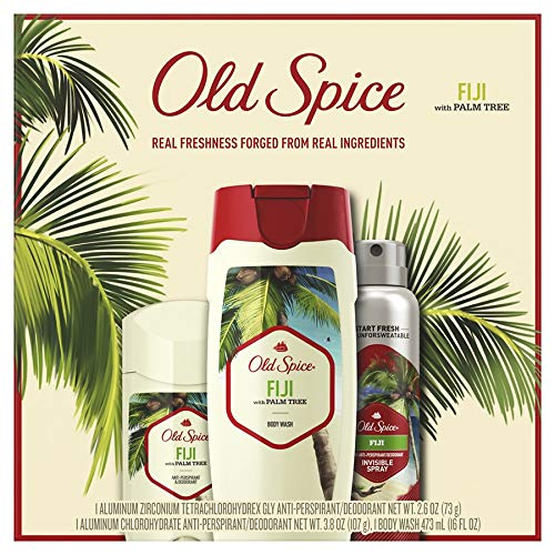 Old Spice 3 pcs Gift Set - Body Wash Antiperspirant and Body Spray (Fiji)