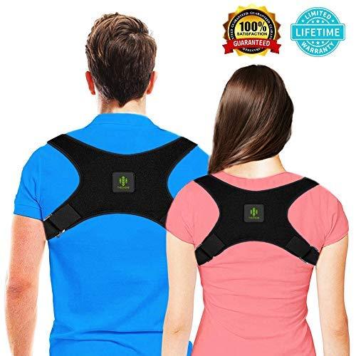 THEONEAB Posture Corrector for Women & Men | Comfortable Upper Back Brace | Posture Support | Kyphosis Brace | Posture Brace | Adjustable Posture Correct Brace (S)