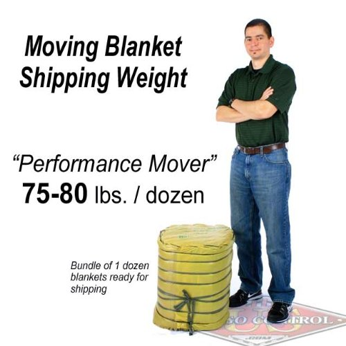 Moving Blanket (12-Pack) 72'' X 80'' US Cargo Control - Performance Mover (75 Lbs/Dozen, Black/White, Cotton/Poly Blend) by US Cargo Control (Image #7)