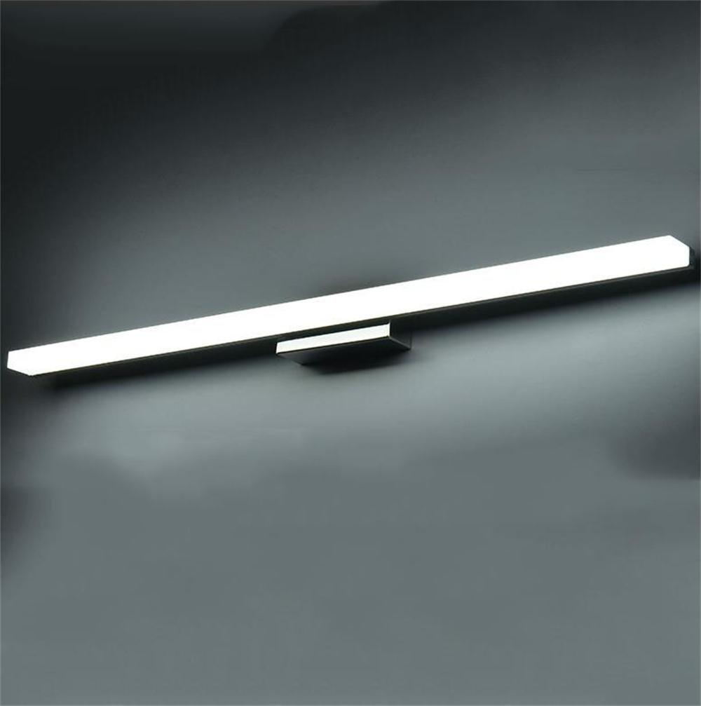 Anti-Korrosions-Anti-Rost-Spiegel Frontlicht - LED wasserdichte Anti-Fog-Badezimmerspiegel Frontleuchte moderne minimalistische Badezimmer Wandleuchte - Energiespar- und Umgebungsspiegel Frontlicht ( Größe   80cm , stil   Weiß )