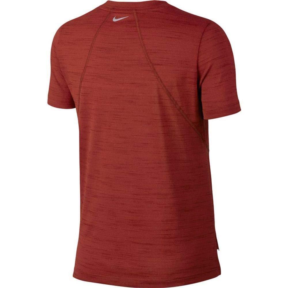 comprar bien última moda precios baratos Nike Miler Women's Short-Sleeve Slub Running Top T-Shirt ...