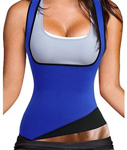 Womens Sauna Burning Tank Top Hot Sweating Neoprene Body Shaper Vest for Tummy Waist Hourglass