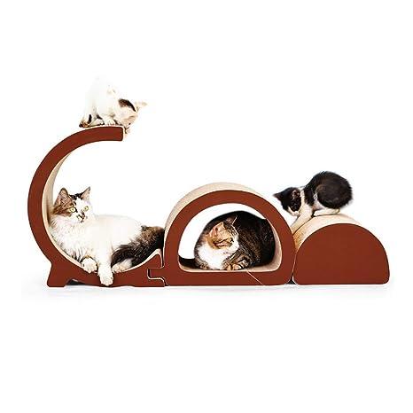 LiRongPing El Marco de Escalada para Gatos de Papel Corrugado de Bricolaje, artículos para el