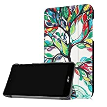 Acer Iconia One 7 B1-770 Tablet Case,[Anti-Scratch] [Painted Patterns] Folio Folding Cover Flip Case for Acer Iconia One 7 B1-770 Flip Case-Happy Tree