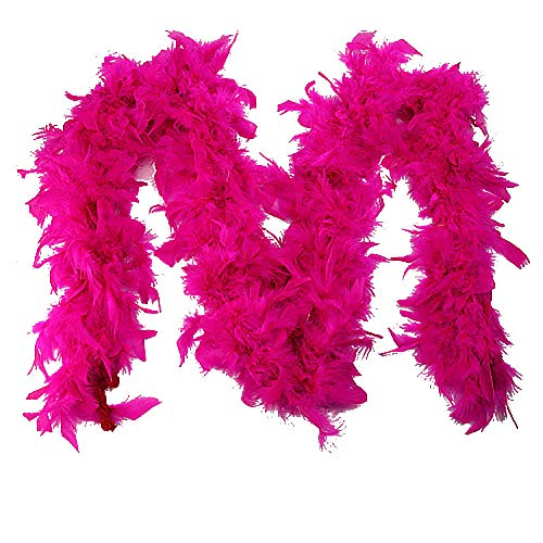 deatu Scarves Sales White Feather Flapper Hen Night Burlesque Dance Party Show Costume Scarf (hot pink,One Size) from DEATU