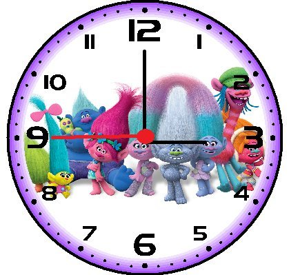 Trolls Dreamworks Characters Decorative Bedroom Clocks