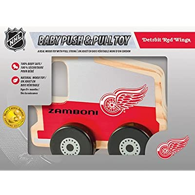 Detroit Red Wings Wood Push & Pull Toy: Sports & Outdoors