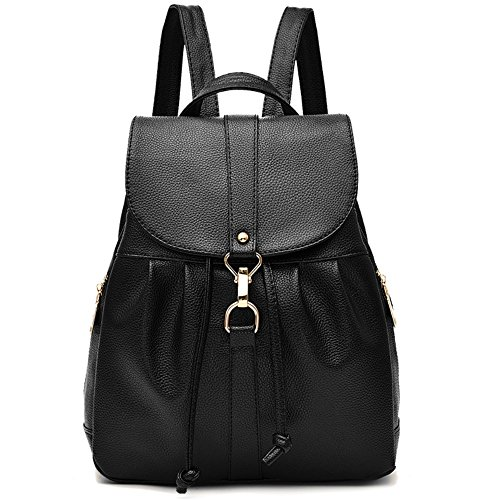 Classic Fashion Vegan Leather Backpack Casual Daypack Shoulder Bag Rucksack Waterproof -
