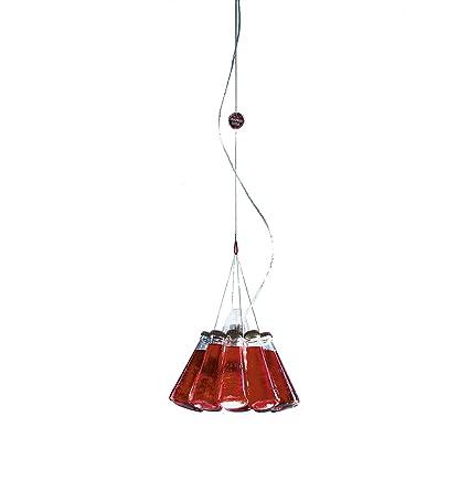 Ingo Maurer Campari Light Pendelleuchte, rot Glas Größe 1 ...