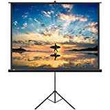 TaoTronics TT-HP019 Projector Screen with Stand, Indoor & Outdoor Movie Screen 100 Inch Diagonal 4:3 with Wrinkle-Free Design (Easy to Clean, 1.1 Gain, 160° Viewing Angle & Includes a Carry Bag)