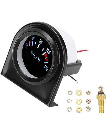5,1/cm Kus Huile Temp Indicateur de jauge de temp/érature M/ètre 50 150/℃ avec r/étro-/éclairage 12/V//24/V 52/mm